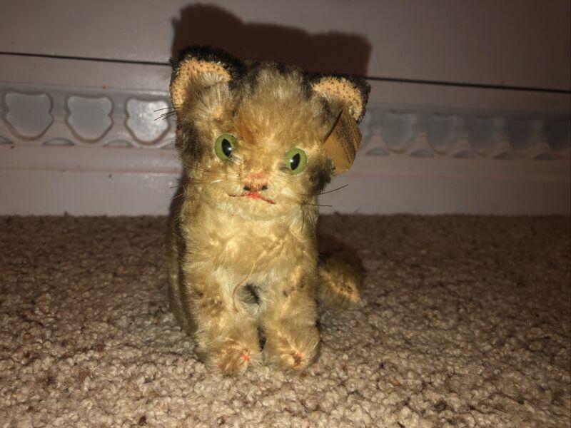 Antique vintage STEIFF susi tiger cub Original Tags kitty cat plush toy 2780 14