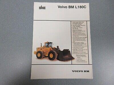 Volvo Bm L180c Wheel Loader Sales Brochure 6 Pages