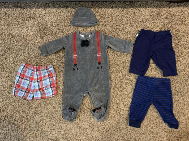 Lot Of 5 Baby Boy Infant Clothes Size 0-3 Months (good Condition)