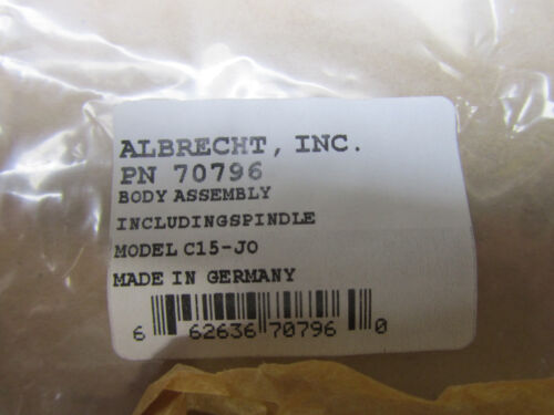 Albrecht body and spindle assembly # 70796 for Model C15 J0 Keyless Drill Chuck
