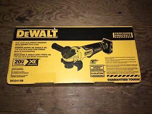 """DeWalt 20 volt XR Brushless 4.5"""" paddle switch Angle Grinder"""