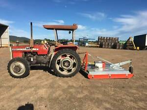 Massey Ferguson 254-4  tractor and howard nugget 6 foot slasher