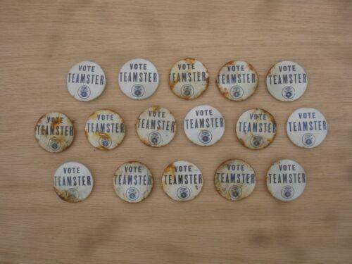 Lot of (2) Vintage Original Vote Teamster Union Pinback Buttons