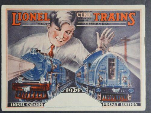 Scarce Original 1929 Lionel Trains Pocket Catalog 32 pg. VGC Gary Nelson Coll.