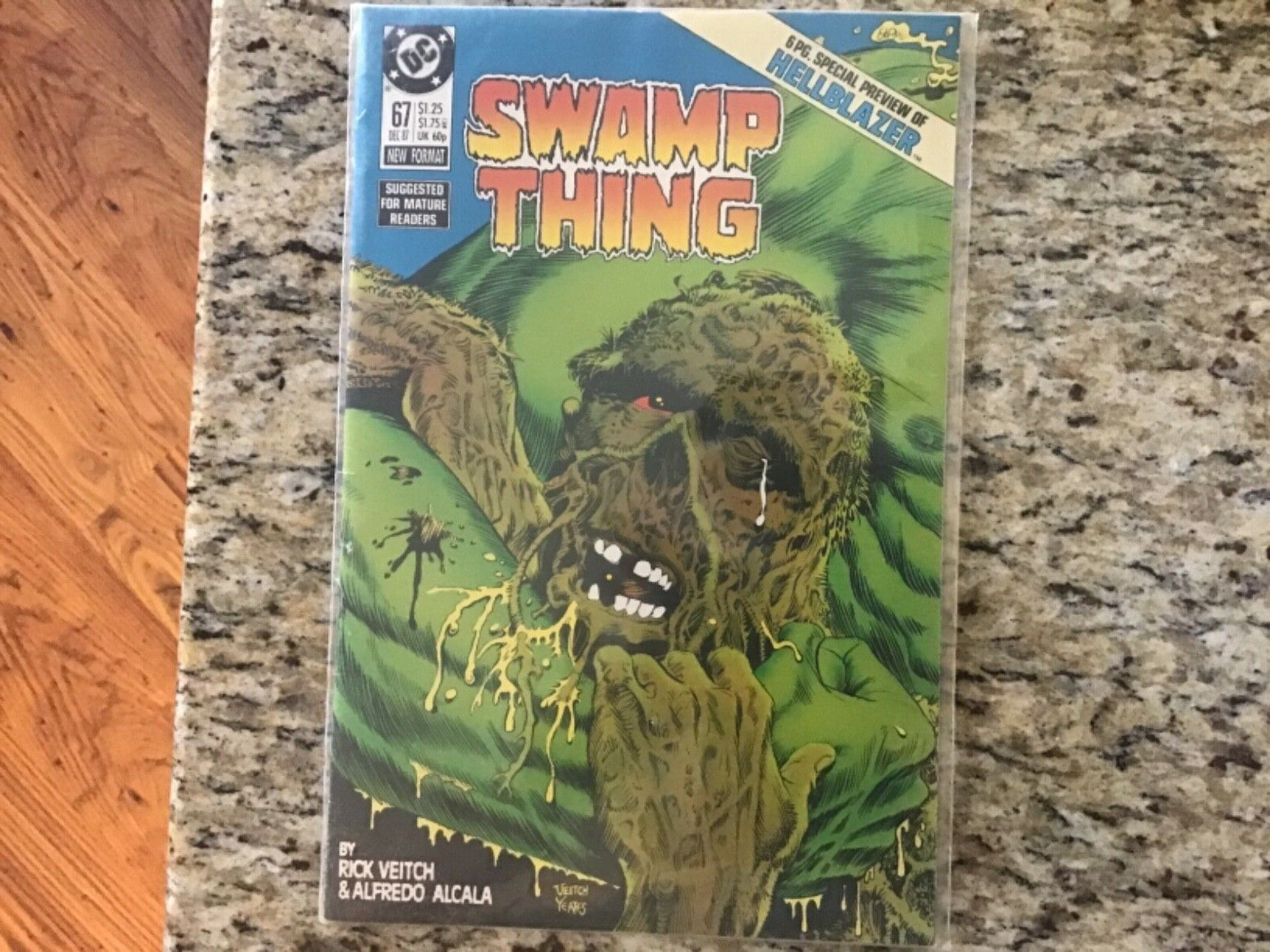 SWAMP THING #67 HELLBLAZER CONSTANTINE PREVIEW 1987 Key DC Comic