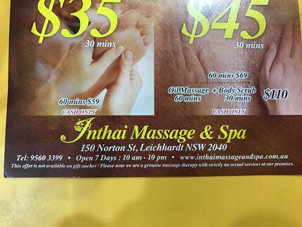 Business massage & spa for sale at Leichhardt
