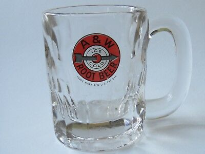 - Thick Soda BEER Pint Glass Stein Mug ~*~ A&W Ice Cold Root Beer ~*~ Since 1919