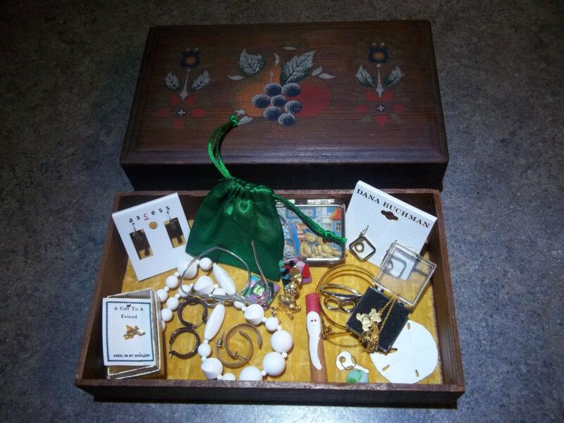 "Trinket Box full of jewelry and ""stuff"""