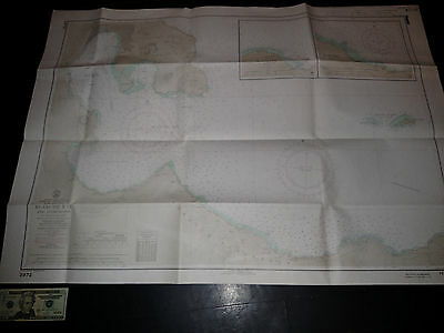 Antique Vintage US Navy Nautical Chart Aeronautical Map Blanche Bay Pacific Isls Navy Chart Map