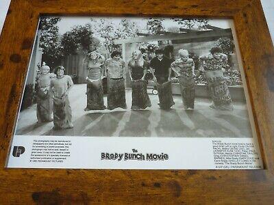 Framed Original Promotional Lobby card 10x8 THE BRADY BUNCH CAST SACK RACE