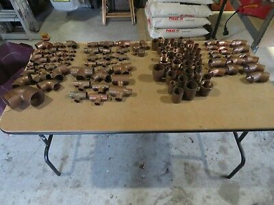 Copper Plumbing Fittings Lot 133 Most Are Larger Fittings