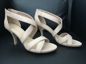 Brand New Aldo Nude Strappy Sandals Shoes Heels 9