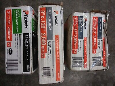 8500 Qty Mixed Bulk Lot - New Paslode Nail 650388 650604 650836