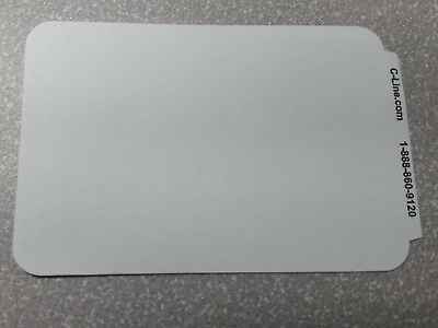 100 Label Name Badges (100 - Name Badges - Peel & Stick Plain White - Tags Labels Sticker ID Adhesive )