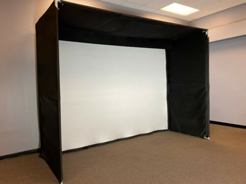 Golf simulation hitting projector screen for SkyTrak, P3ProSwing, Optishot, etc.