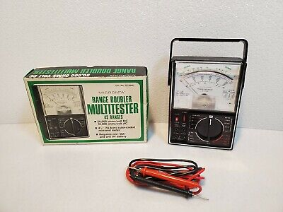 Vtg Micronta Range Doubler Multitester 43 Ranges 50000 Ohmsvolt Dc 22-204 A