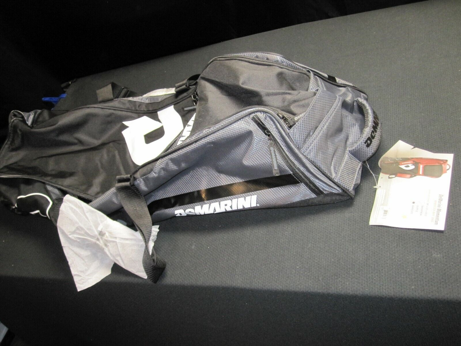 DeMarini Momentum Baseball/Softball Wheel Bag - Charcoal