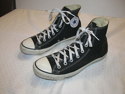 Converse Chuck Taylor All Star Hi Black Men 10 Women 12 Sneakers Shoes M9160