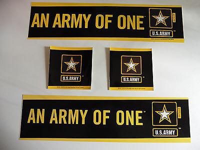 4 Four US Militär AN ARMY OF ONE Sticker Stern Star Logo Aufkleber Auto Car USA