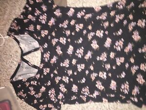 Floral top with cutout back