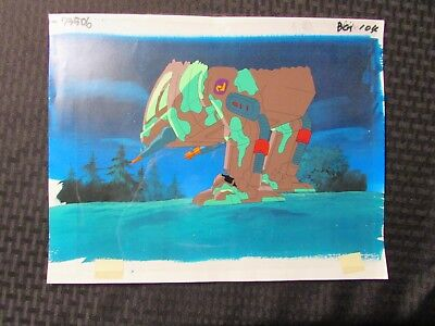 """1994 EXO SQUAD Cartoon 12.5x10.5"""" Animation Cel & Printed Background A7-END"""