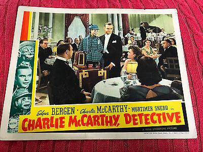 Charlie McCarthy, Detective 1939 Universal comedy lobby card Edgar Bergen Charli