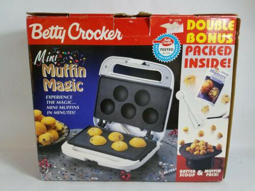 Vintage Betty Crocker Mini Magic Muffin Electric Muffin Baker-Used & Very Clean
