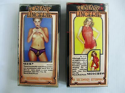 1970s DOC JOHNSON ECSTASY LINGERIE..TWO ITEMS... UNUSED in ORIGINAL PACKAGING..l