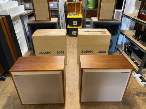 Vintage Hartley Zodiac 300B Speakers - Very Rare - Excellent Condition w/ Boxes
