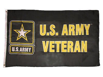 3X5 US Army Veteran Black 3'x5' United States Army Strong Star Banner USA SELLER