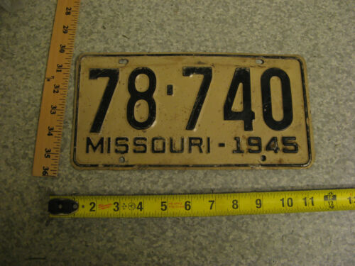 1945 45 MISSOURI MO LICENSE PLATE TAG #78-740