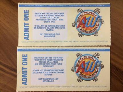 2 Adventure World Tickets! (valid for one entry each)