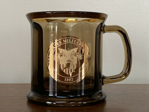 West Point United States Military Academy 1802 Amber Glass Mug