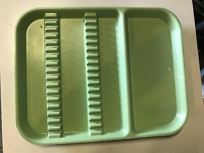 """Dental Instrument Tray Weber Consumable Size A 13 3/4""""x10 5/8""""x7/8"""" - Green"""
