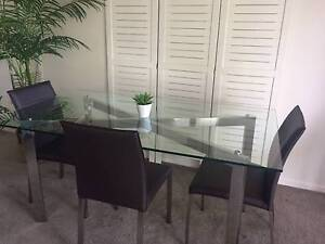 Glass Dining Table and chairs Nundah Brisbane North East Preview