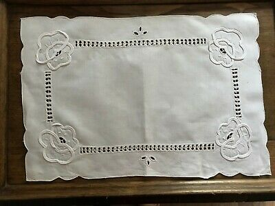Vintage white tray cloth