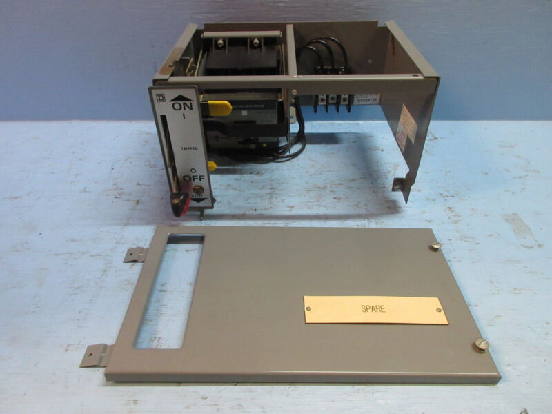 "Square D Model 5 20 Amp Breaker 9"" Motor Control MCC Feeder Bucket w/ Breaker"