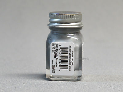 TESTORS PAINT METAL SILVER ENAMEL 1/4oz JAR 7.4ml plastic model car 1146 NEW