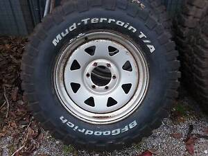 5 x Sunraysia Rims with near new  Mudl Terrain BF GoodridgeTyres Tullamarine Hume Area Preview