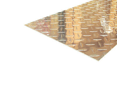 Aluminum Diamond Plate Flat Sheet .062 X 12 X 48 In. Uaac