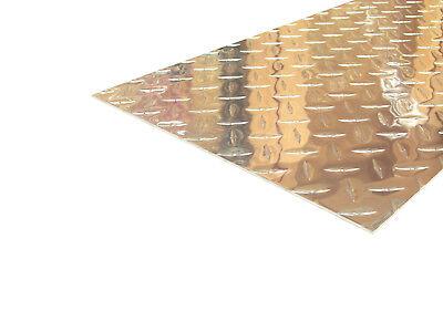 Aluminum Diamond Plate Flat Sheet .062 X 12 X 48 In. Uaac