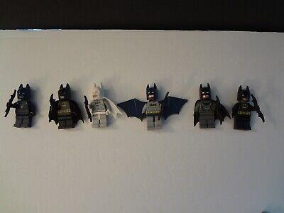 Lego Batman Minifigures Mini Figures Lot of 6 Assorted black cape, white cape +