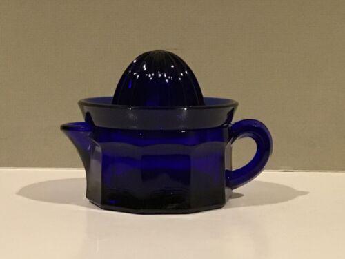 Cobalt Blue Glass 1/2 Cup Reamer Lemon Lime Juicer