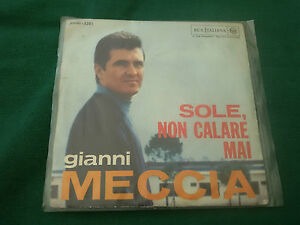 GIANNI-MECCIA-Singolo-45-giri-Sole-Non-Calare-Mai-Verra-La-Luna-RCA-PM45-3201