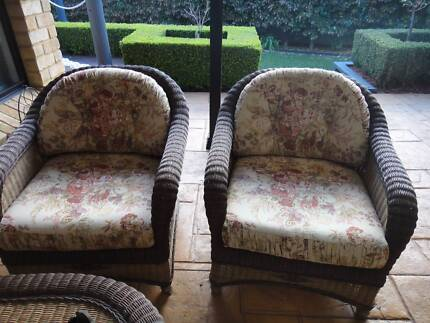3 seater and 2 chairs Rattan Cane Lounge with 2 tables Nowra Nowra-Bomaderry Preview
