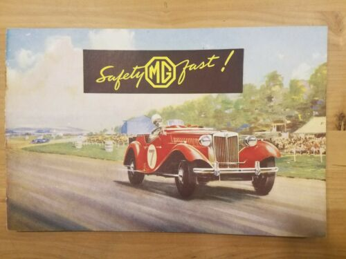 "Vintage Safety MG TD Fast  Dealers Poster Brochure 17"" x 22"""