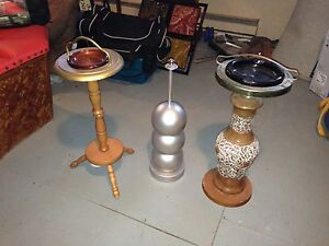Vintage ashtrays, christmas tree, etc
