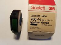 "SCOTCH 3M BRAND 760 LABELING TAPE 3//4"" X 288"" Color Is Green"