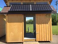 8x12 solar shed