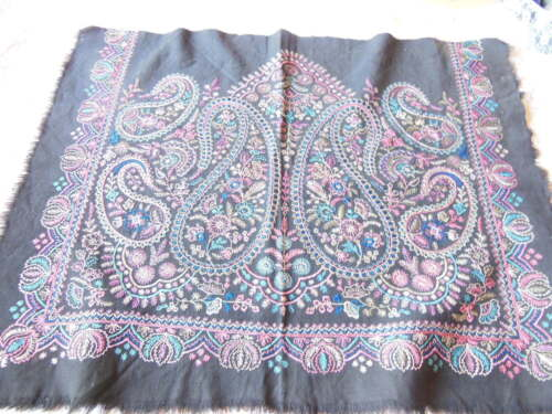 Vintage Hand-Embroidered Fabric Panel